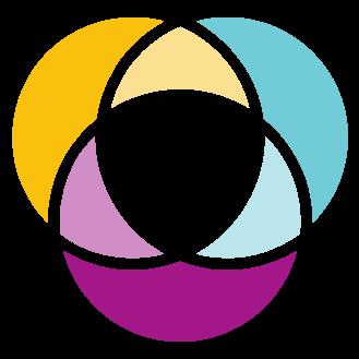 Vin diagram world icon