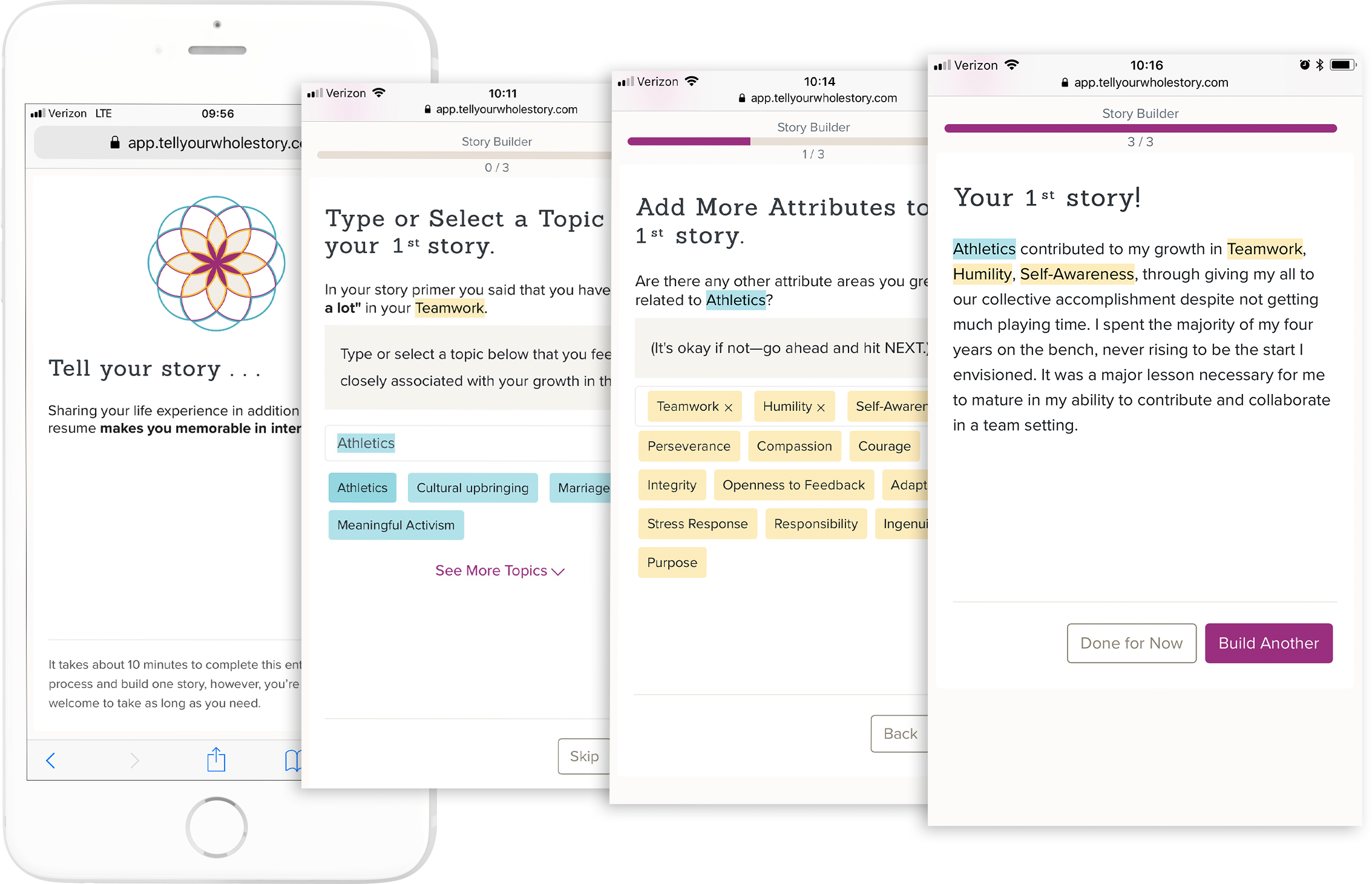 Product Shot: Story Builder
